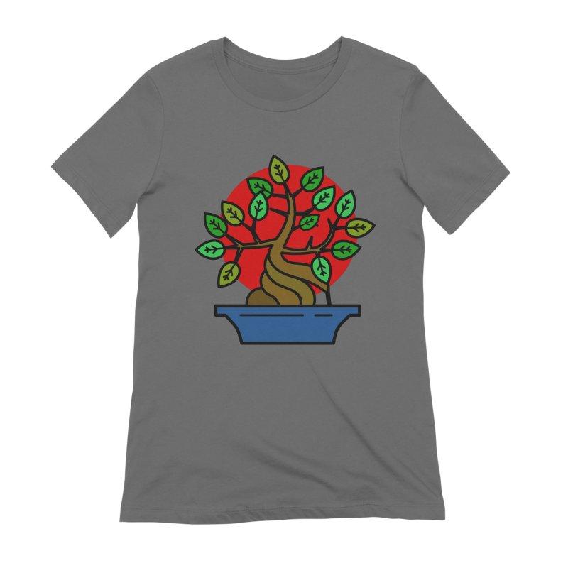 Bonsai Tree Women's T-Shirt by LadyBaigStudio's Artist Shop