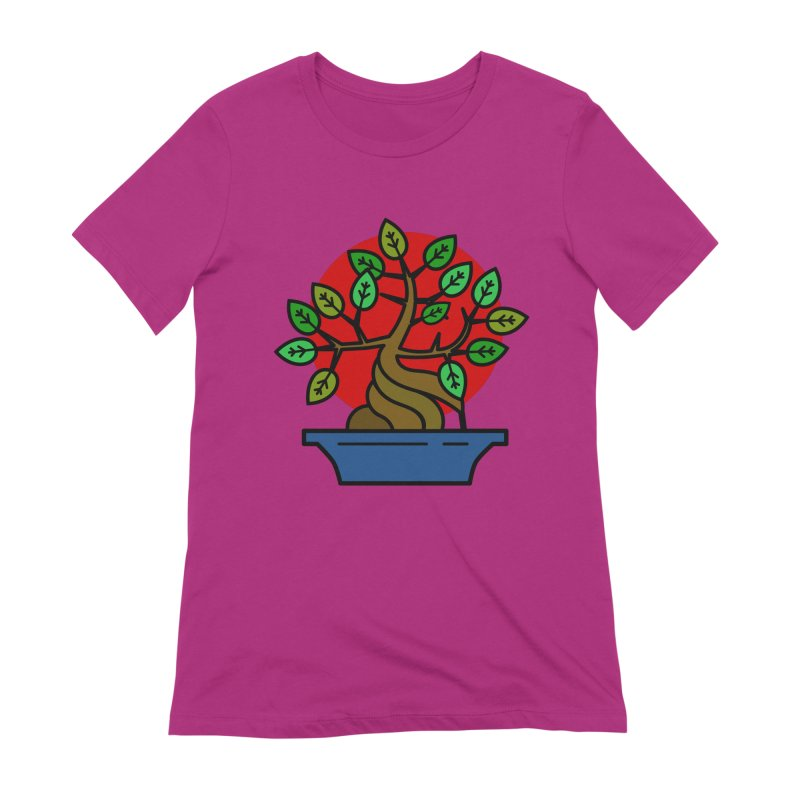 Bonsai Tree Women's Extra Soft T-Shirt by LadyBaigStudio's Artist Shop