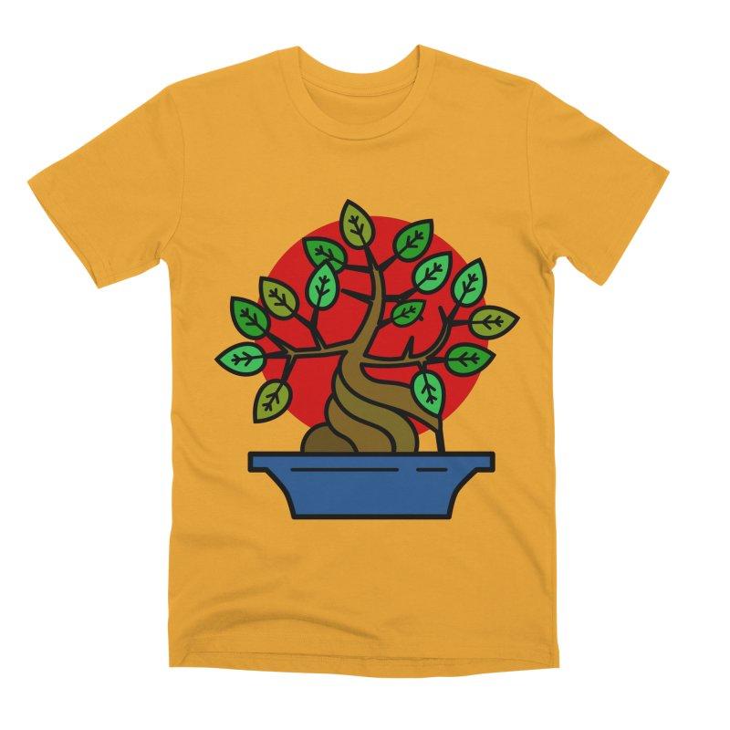 Bonsai Tree Men's Premium T-Shirt by LadyBaigStudio's Artist Shop