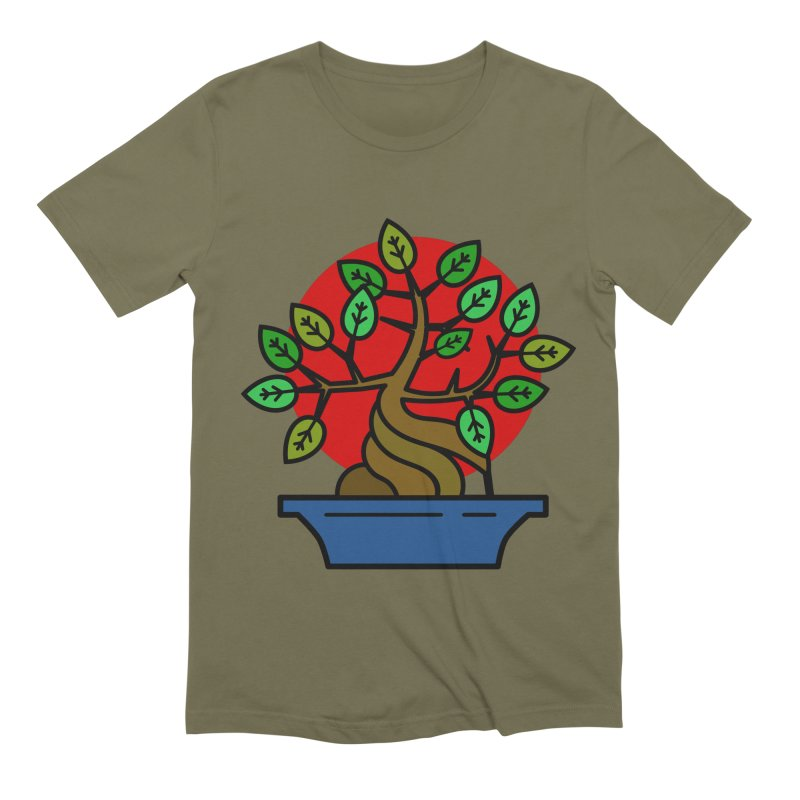 Bonsai Tree Men's Extra Soft T-Shirt by LadyBaigStudio's Artist Shop