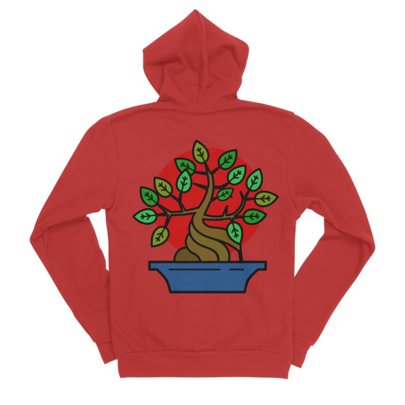 Bonsai Tree Women's Sponge Fleece Zip-Up Hoody by LadyBaigStudio's Artist Shop