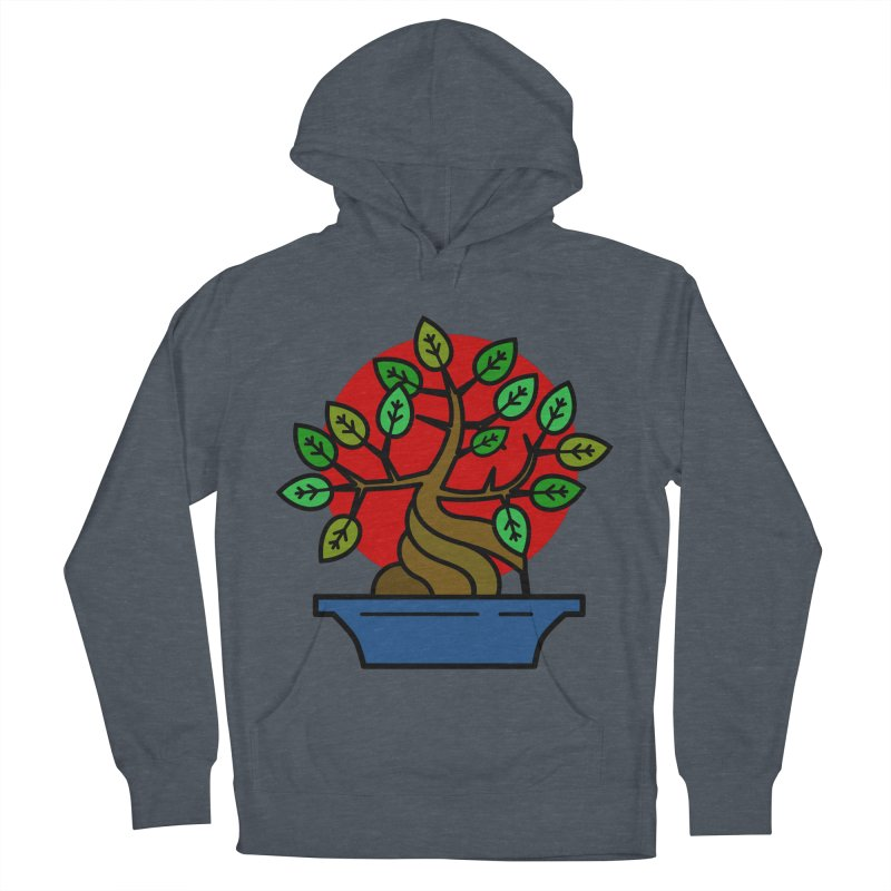 Bonsai Tree Men's French Terry Pullover Hoody by LadyBaigStudio's Artist Shop