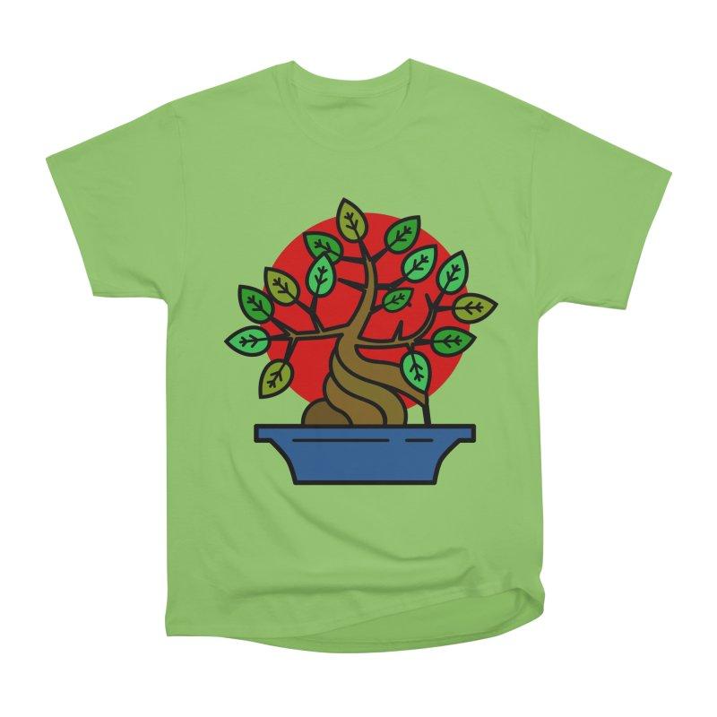 Bonsai Tree Men's Heavyweight T-Shirt by LadyBaigStudio's Artist Shop