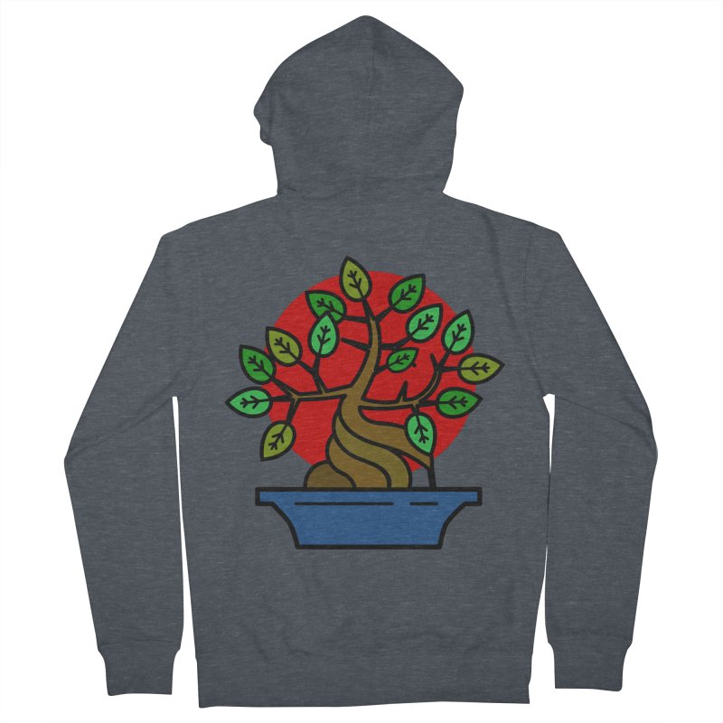 Bonsai Tree Women's French Terry Zip-Up Hoody by LadyBaigStudio's Artist Shop