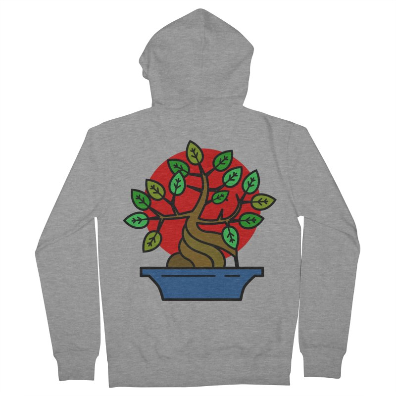 Bonsai Tree Men's French Terry Zip-Up Hoody by LadyBaigStudio's Artist Shop