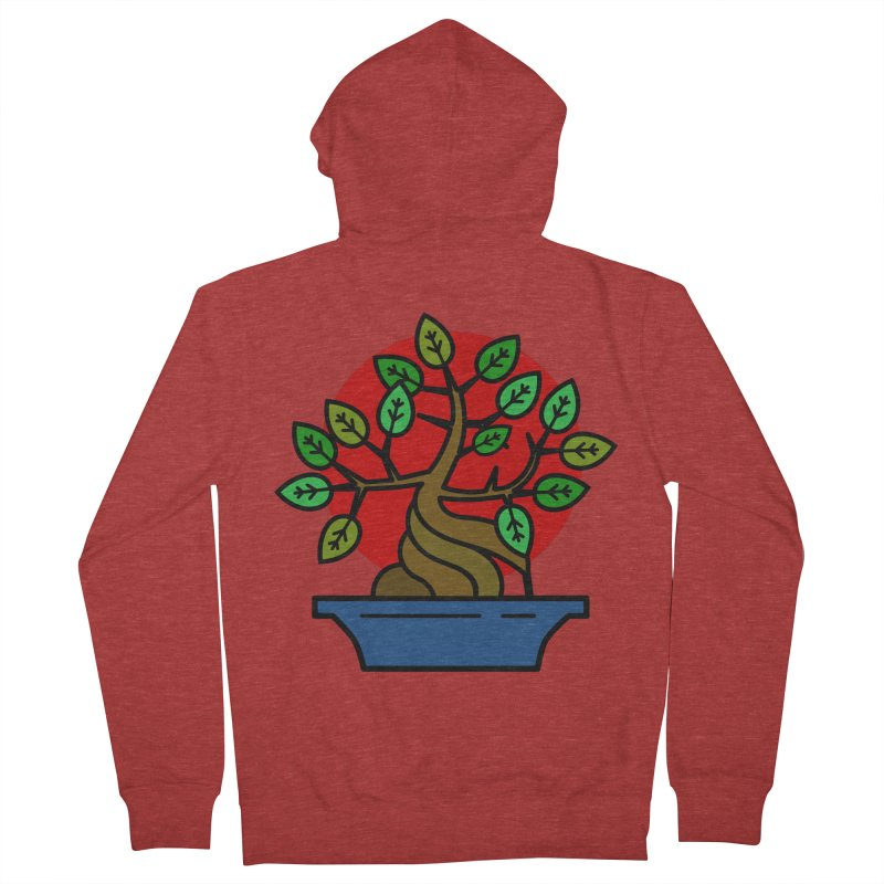 Bonsai Tree Men's Zip-Up Hoody by LadyBaigStudio's Artist Shop