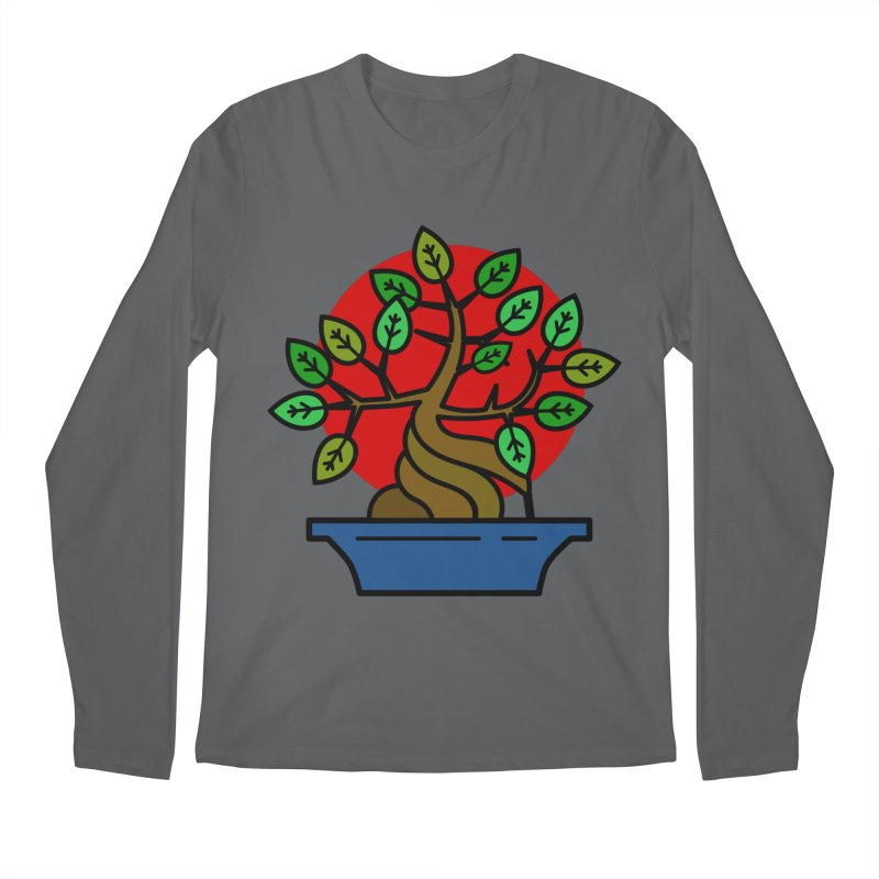 Bonsai Tree Men's Regular Longsleeve T-Shirt by LadyBaigStudio's Artist Shop