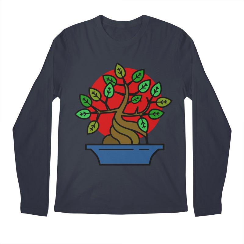 Bonsai Tree Men's Regular Longsleeve T-Shirt by LadyBaigStudio's Artist Shop