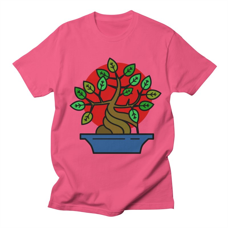 Bonsai Tree Men's Regular T-Shirt by LadyBaigStudio's Artist Shop