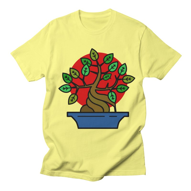 Bonsai Tree Women's Regular Unisex T-Shirt by LadyBaigStudio's Artist Shop