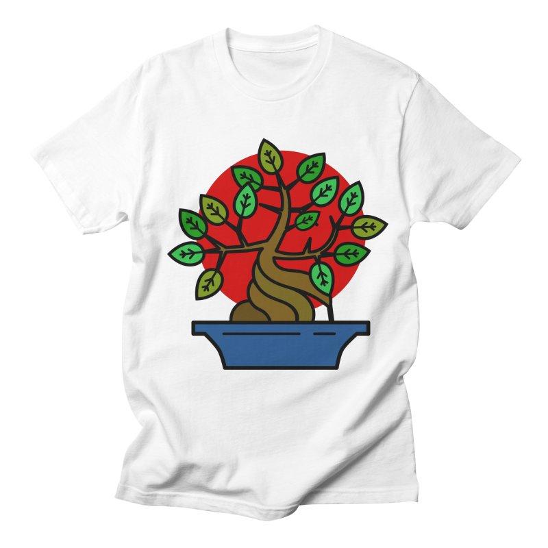 Bonsai Tree Men's Regular T-Shirt by LadyBaigStudio's Artist Shop