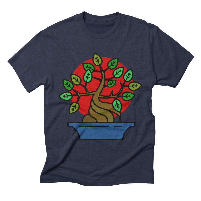 Bonsai Tree Men's Triblend T-Shirt by LadyBaigStudio's Artist Shop