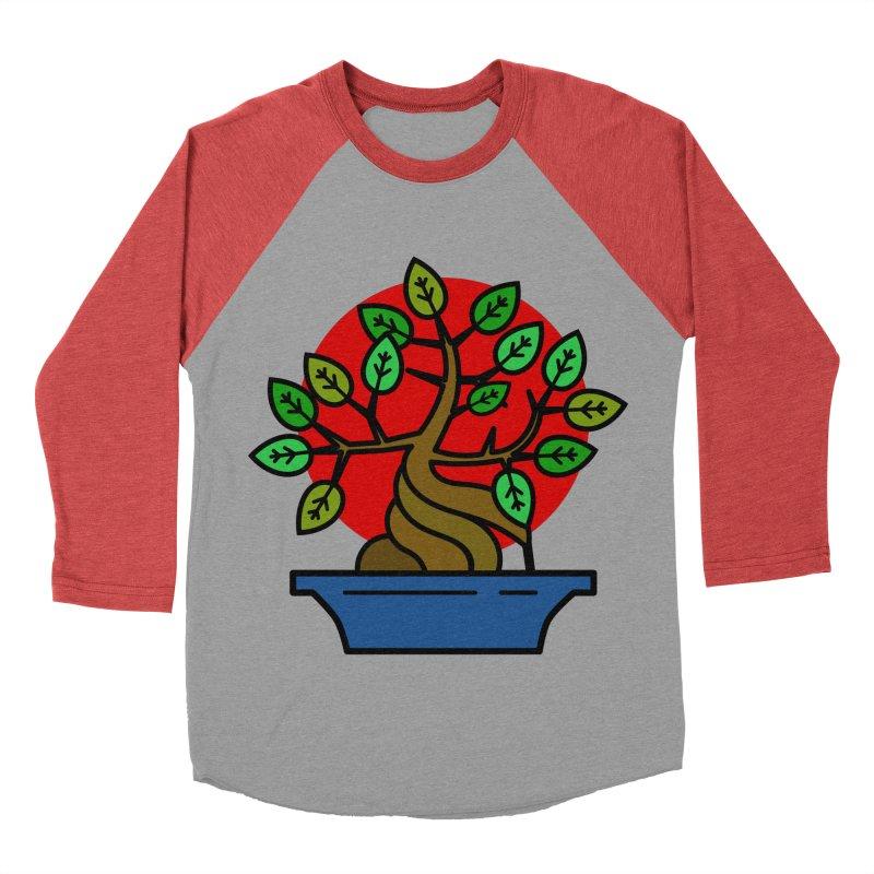Bonsai Tree Men's Baseball Triblend Longsleeve T-Shirt by LadyBaigStudio's Artist Shop