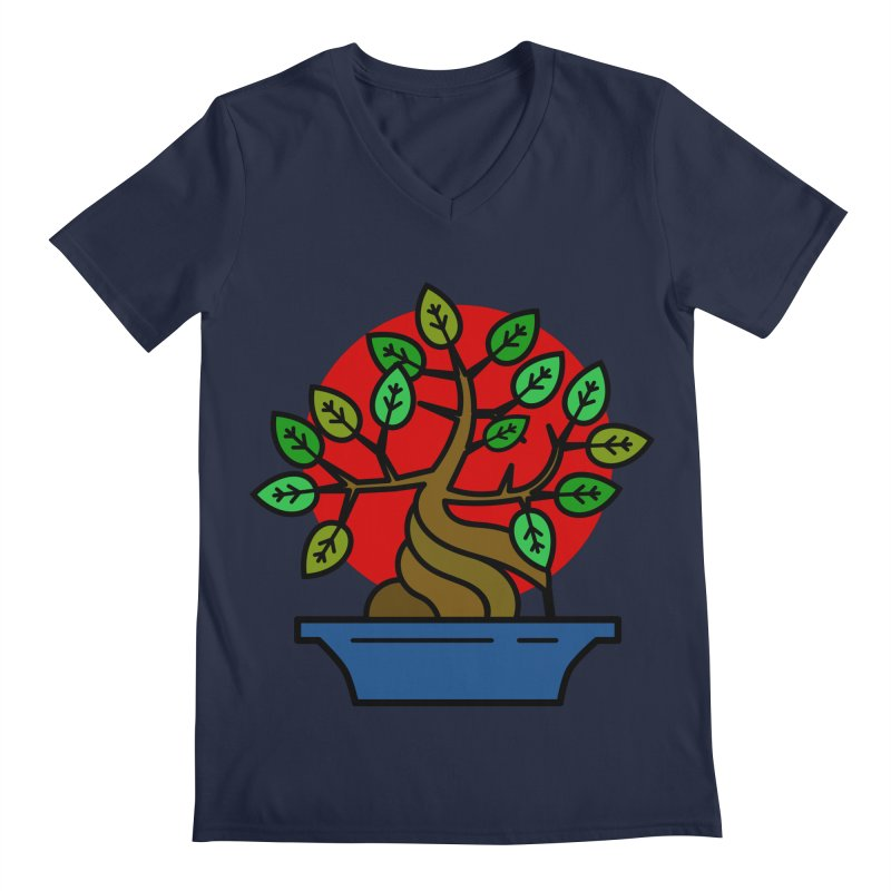 Bonsai Tree Men's V-Neck by LadyBaigStudio's Artist Shop