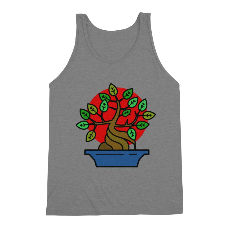 Bonsai Tree Men's Triblend Tank by LadyBaigStudio's Artist Shop