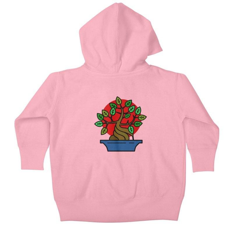Bonsai Tree Kids Baby Zip-Up Hoody by LadyBaigStudio's Artist Shop