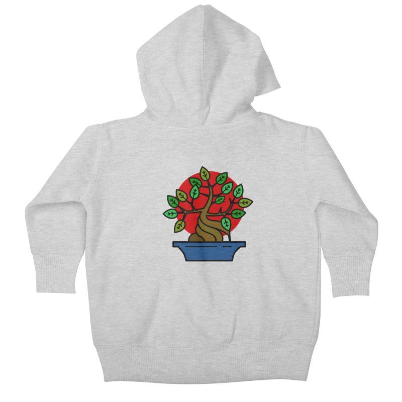 Bonsai Tree Kids Baby Zip-Up Hoody by LadyBaigStudio's Artist Shop