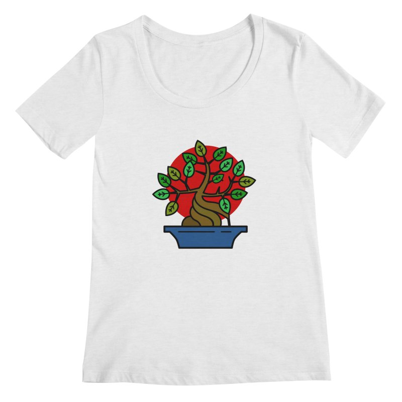 Bonsai Tree Women's Regular Scoop Neck by LadyBaigStudio's Artist Shop