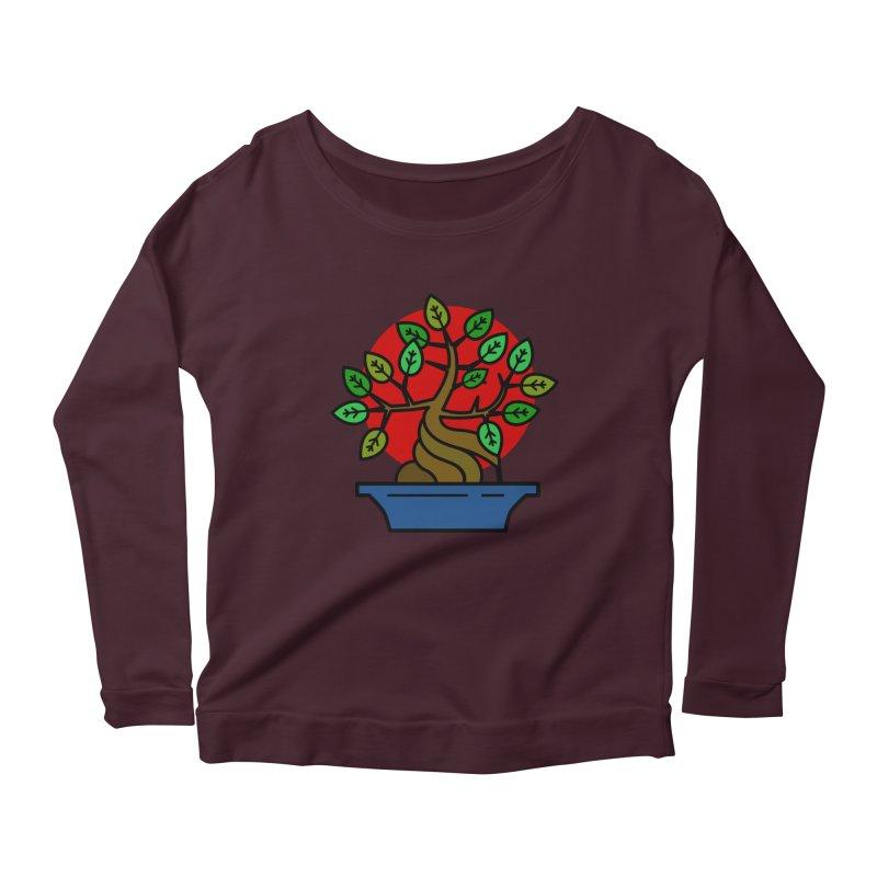 Bonsai Tree Women's Scoop Neck Longsleeve T-Shirt by LadyBaigStudio's Artist Shop