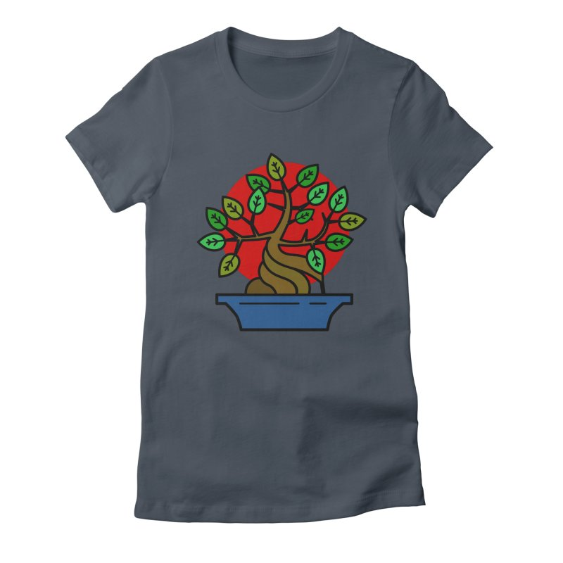 Bonsai Tree Women's Fitted T-Shirt by LadyBaigStudio's Artist Shop