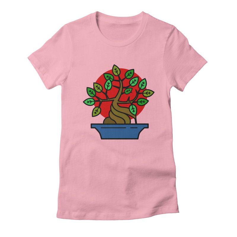 Bonsai Tree Women's Fitted T-Shirt by LadyBaigStudio's Artist Shop