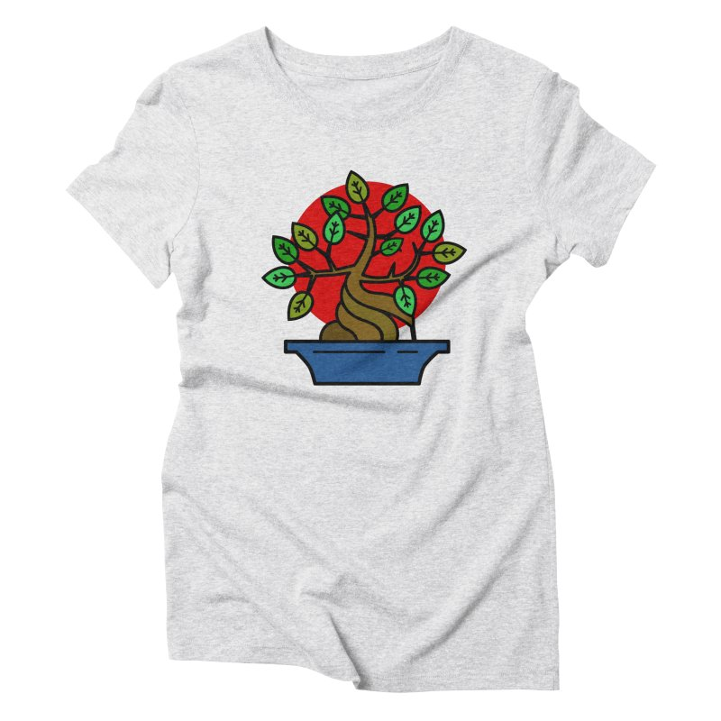 Bonsai Tree Women's Triblend T-Shirt by LadyBaigStudio's Artist Shop