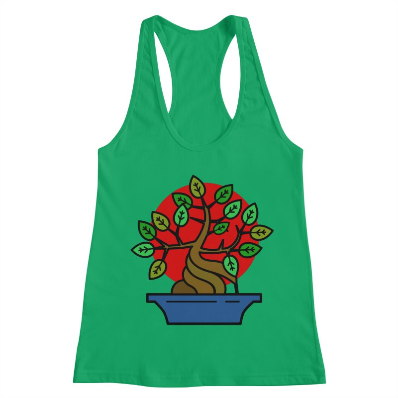 Bonsai Tree Women's Racerback Tank by LadyBaigStudio's Artist Shop