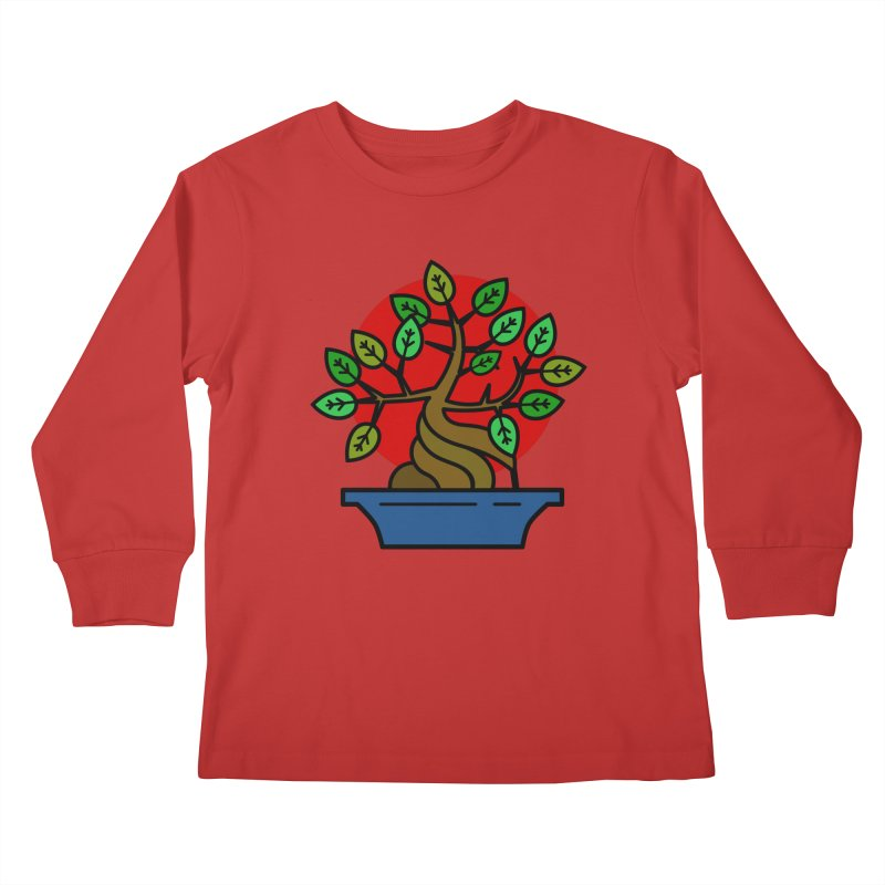 Bonsai Tree Kids Longsleeve T-Shirt by LadyBaigStudio's Artist Shop