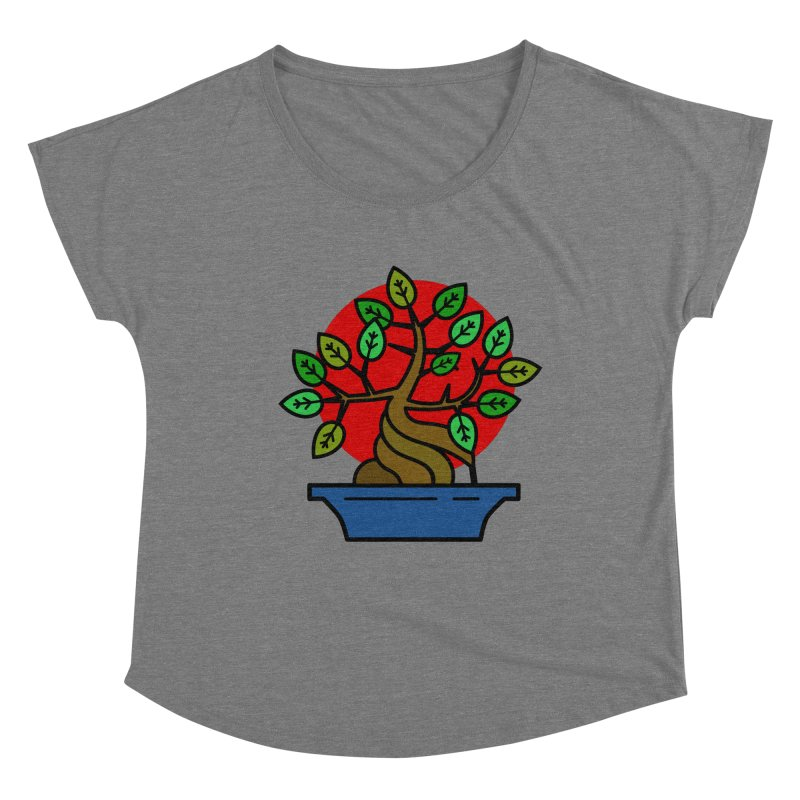 Bonsai Tree Women's Scoop Neck by LadyBaigStudio's Artist Shop