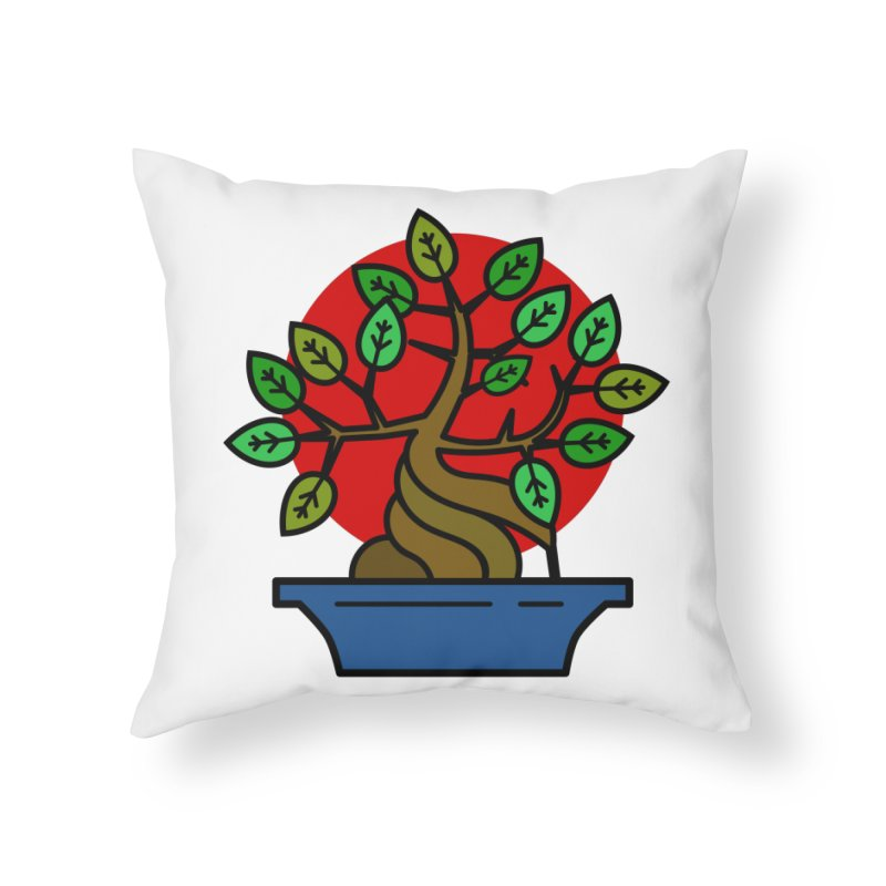 Bonsai Tree Home Throw Pillow by LadyBaigStudio's Artist Shop