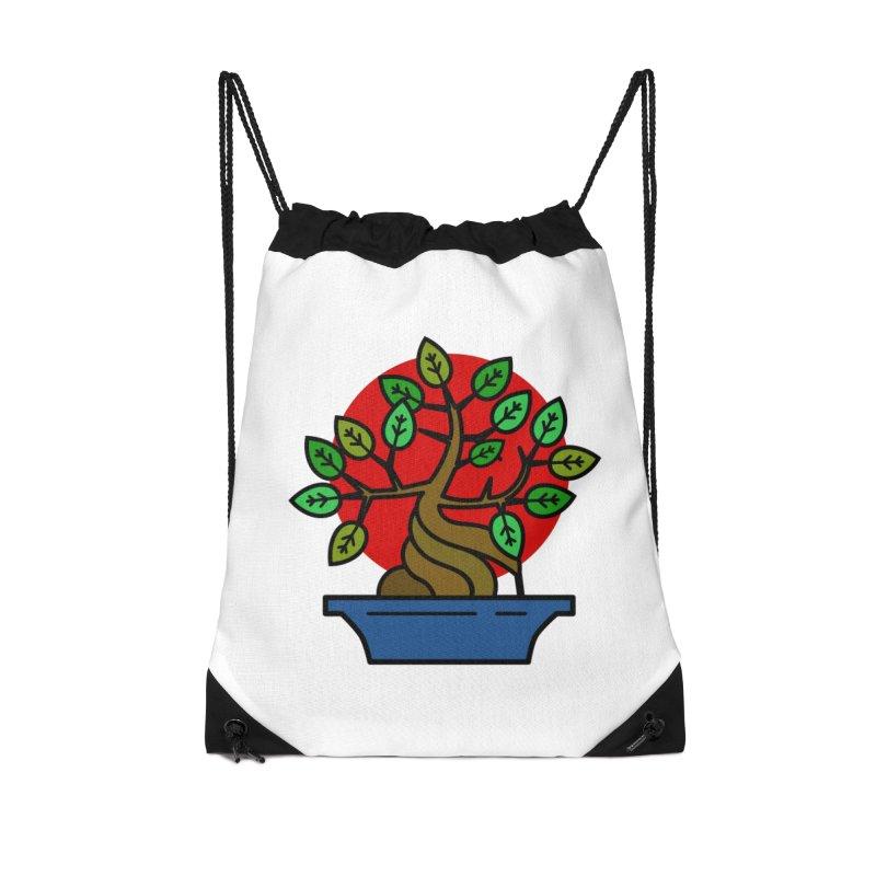 Bonsai Tree Accessories Drawstring Bag Bag by LadyBaigStudio's Artist Shop