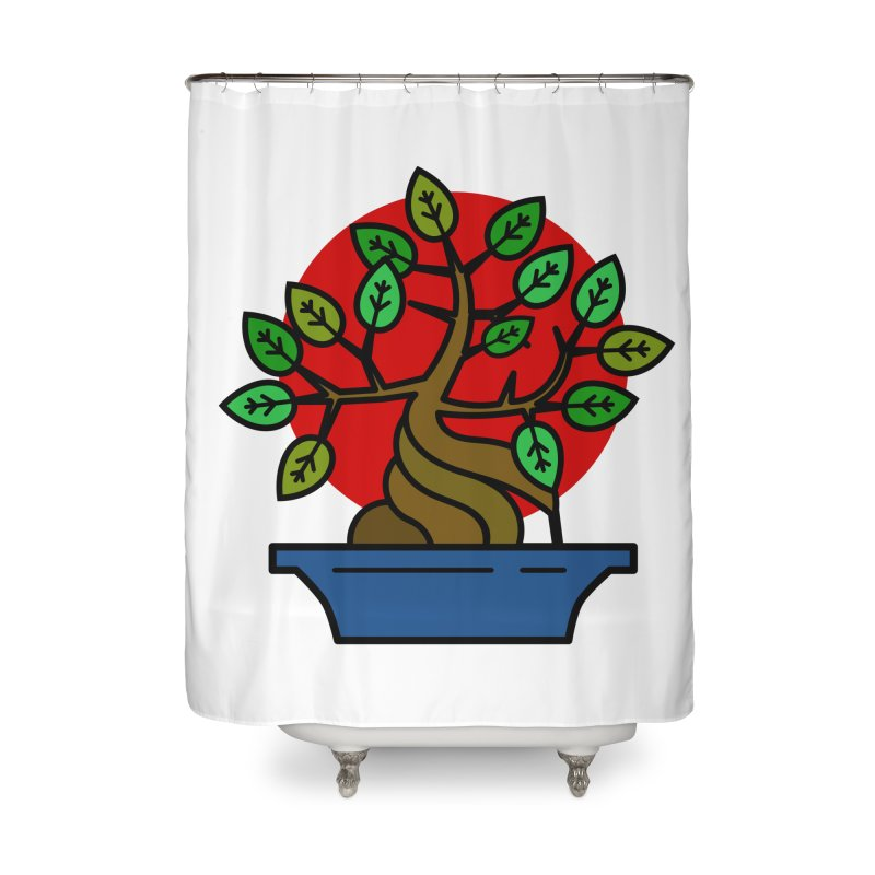 Bonsai Tree Home Shower Curtain by LadyBaigStudio's Artist Shop