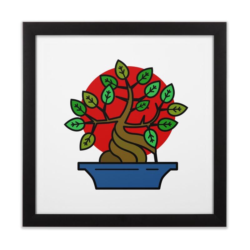 Bonsai Tree Home Framed Fine Art Print by LadyBaigStudio's Artist Shop