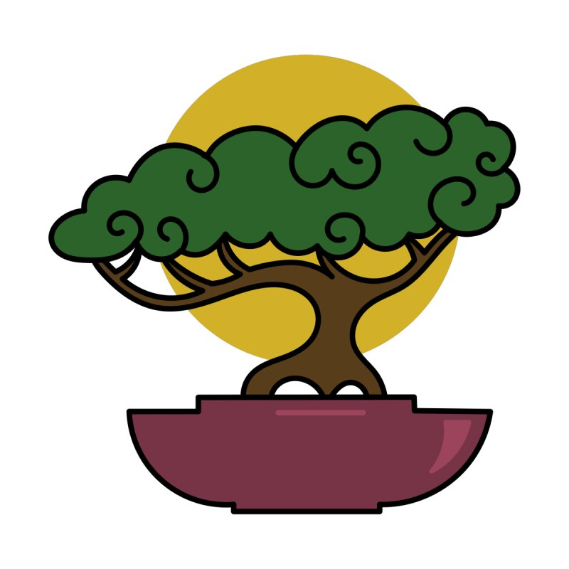 Bonsai Tree #2 Home Fine Art Print by LadyBaigStudio's Artist Shop