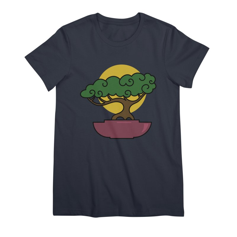 Bonsai Tree #2 Women's Premium T-Shirt by LadyBaigStudio's Artist Shop