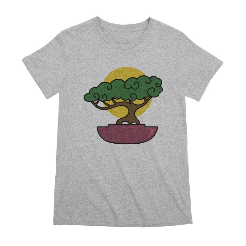 Bonsai Tree #2 Women's Premium T-Shirt by LadyBaigStudio's Artist Shop
