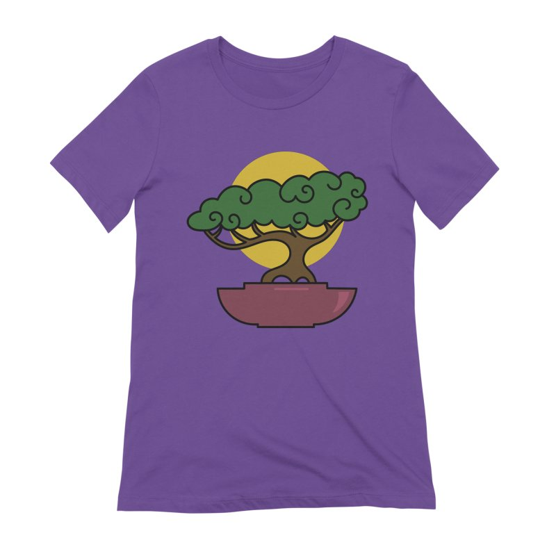 Bonsai Tree #2 Women's Extra Soft T-Shirt by LadyBaigStudio's Artist Shop