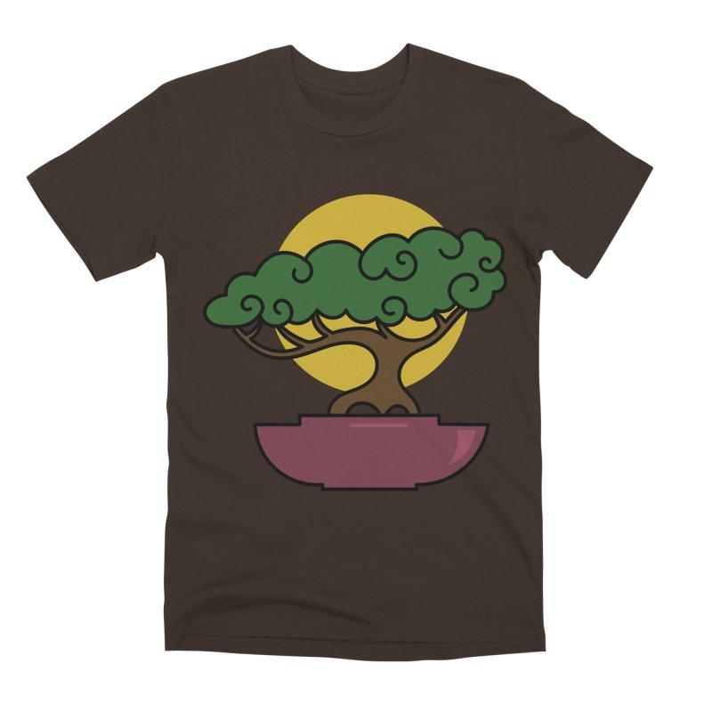 Bonsai Tree #2 Men's Premium T-Shirt by LadyBaigStudio's Artist Shop