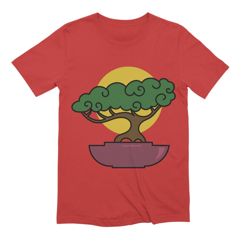 Bonsai Tree #2 Men's Extra Soft T-Shirt by LadyBaigStudio's Artist Shop