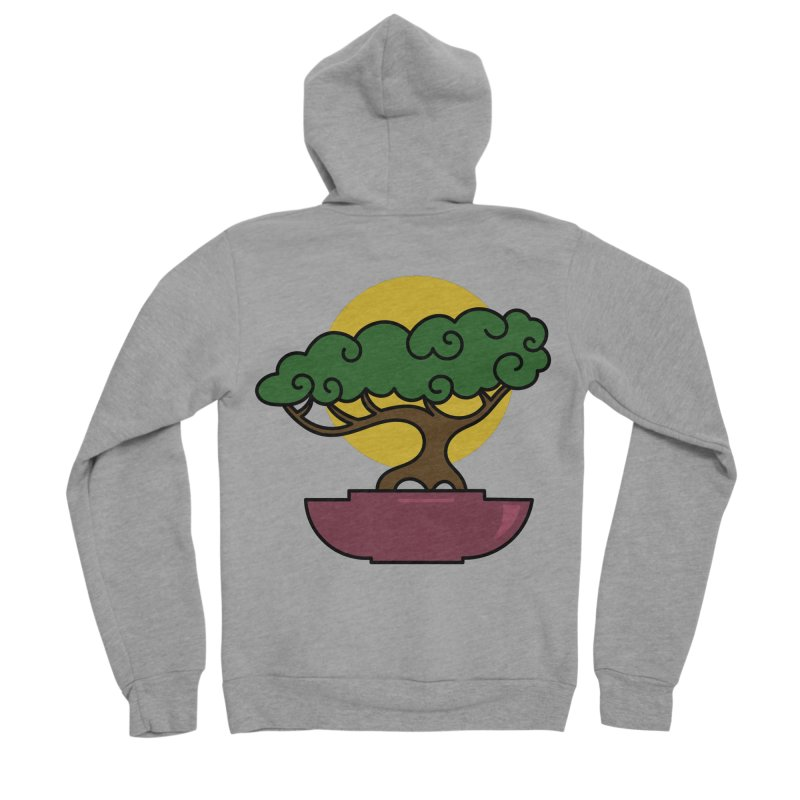 Bonsai Tree #2 Women's Sponge Fleece Zip-Up Hoody by LadyBaigStudio's Artist Shop