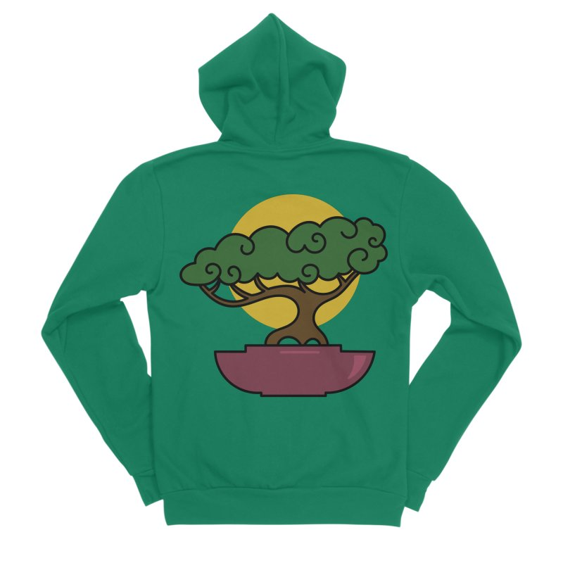 Bonsai Tree #2 Men's Sponge Fleece Zip-Up Hoody by LadyBaigStudio's Artist Shop