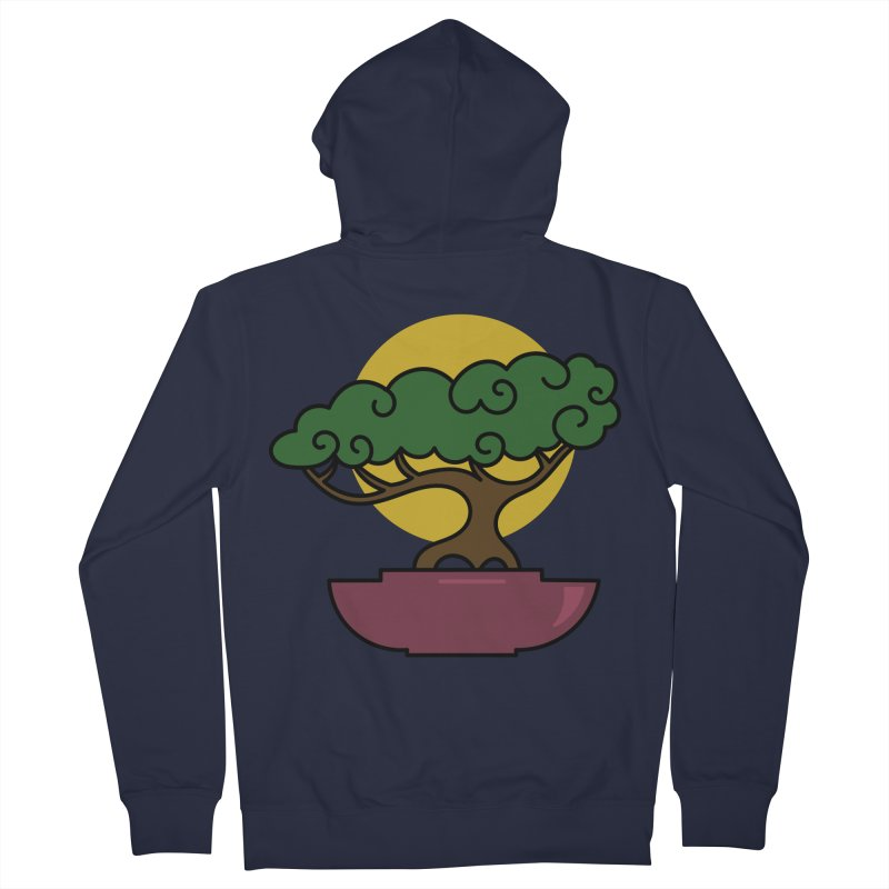 Bonsai Tree #2 Women's French Terry Zip-Up Hoody by LadyBaigStudio's Artist Shop