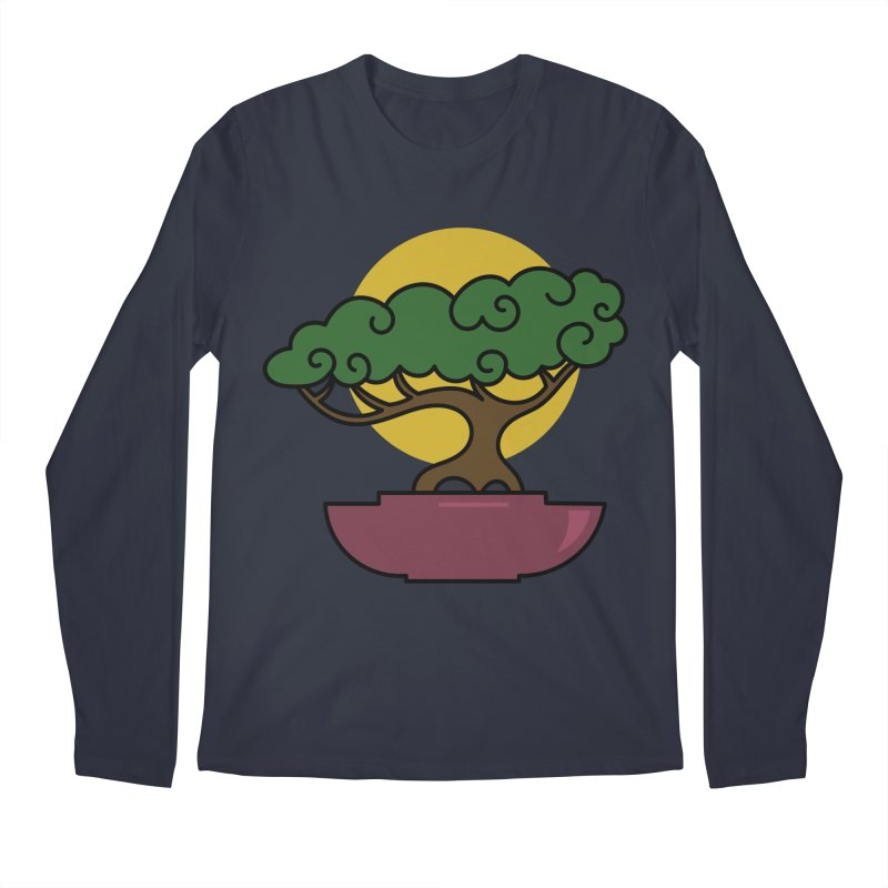 Bonsai Tree #2 Men's Regular Longsleeve T-Shirt by LadyBaigStudio's Artist Shop
