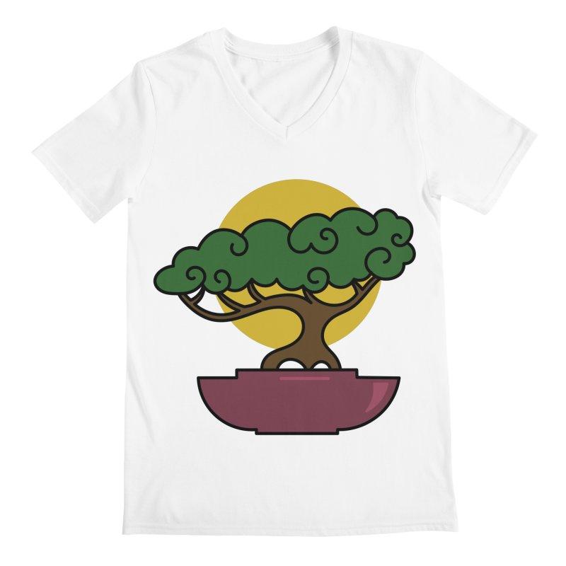 Bonsai Tree #2 Men's V-Neck by LadyBaigStudio's Artist Shop