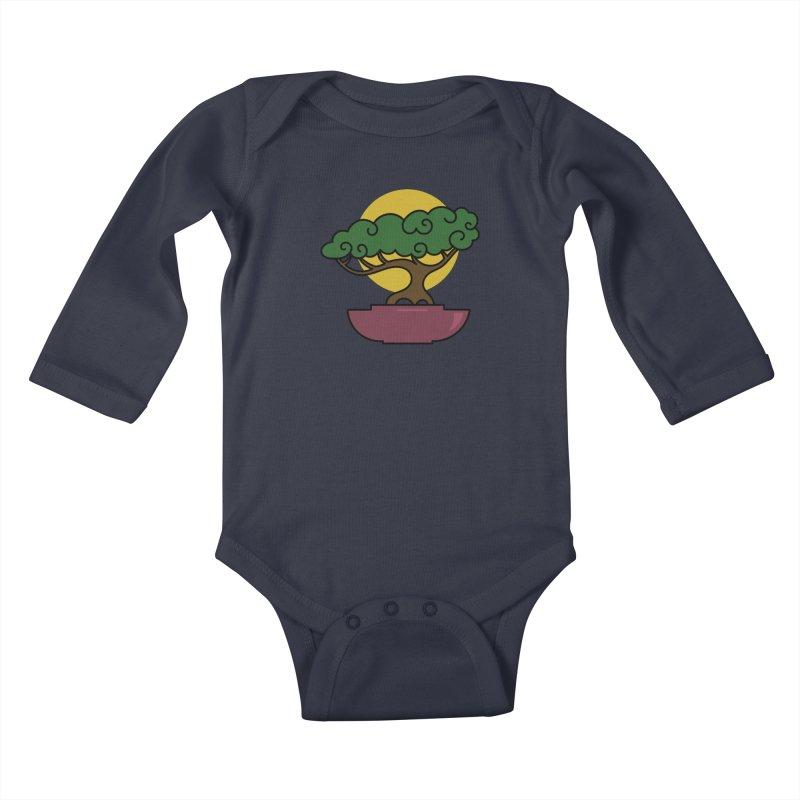 Bonsai Tree #2 Kids Baby Longsleeve Bodysuit by LadyBaigStudio's Artist Shop