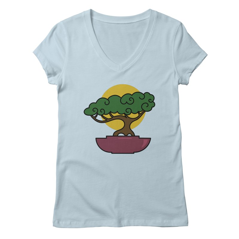 Bonsai Tree #2 Women's V-Neck by LadyBaigStudio's Artist Shop