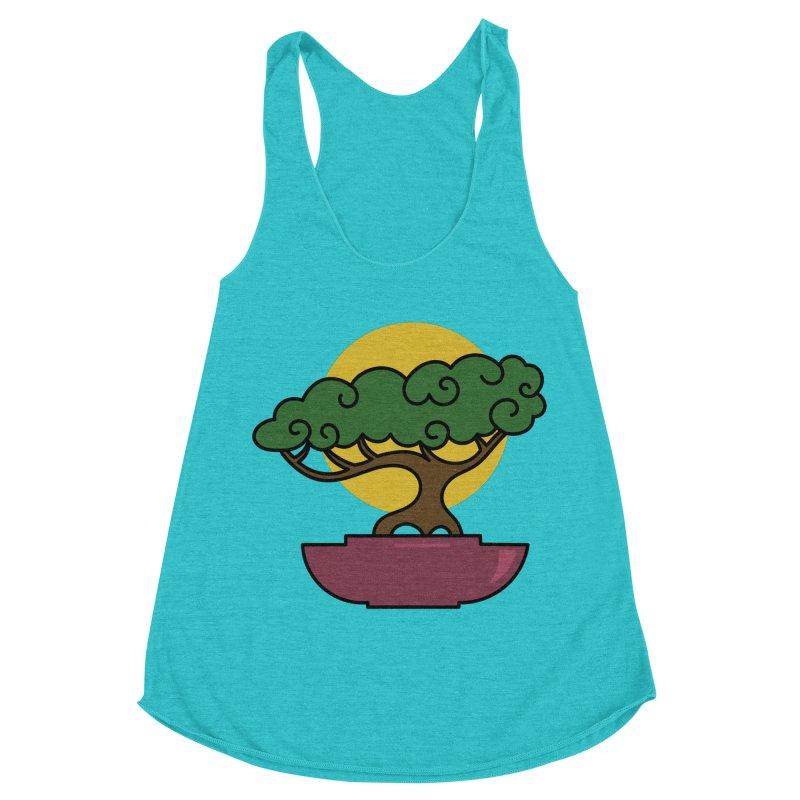 Bonsai Tree #2 Women's Racerback Triblend Tank by LadyBaigStudio's Artist Shop