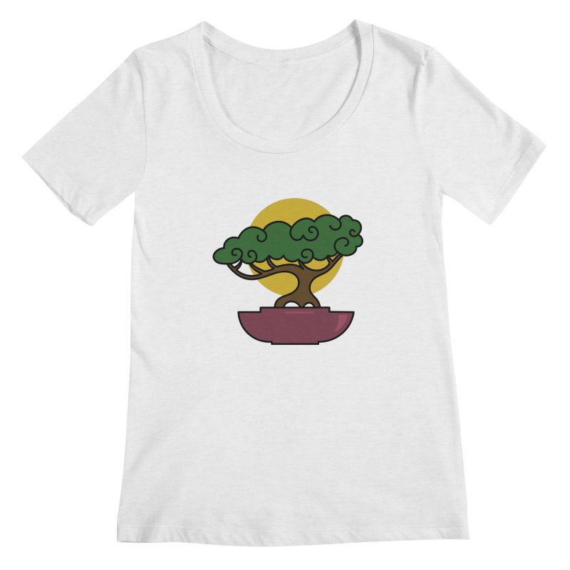 Bonsai Tree #2 Women's Scoop Neck by LadyBaigStudio's Artist Shop