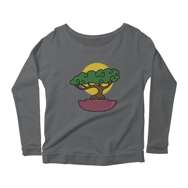 Bonsai Tree #2 Women's Scoop Neck Longsleeve T-Shirt by LadyBaigStudio's Artist Shop