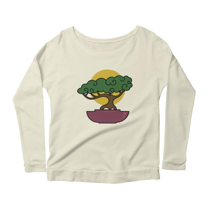 Bonsai Tree #2 Women's Scoop Neck Longsleeve T-Shirt by LadyBaigStudio's Artist Shop